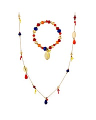 Mood Multicoloured Bead Oval Disc Set