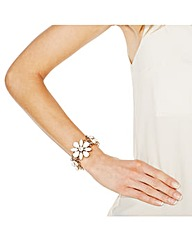 Mood Crystal White Flower Motif Bracelet