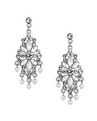 Mood Crystal Floral Pearl Drop Earring