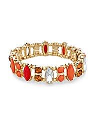Mood Orange Navette Stone Bracelet