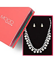Mood Diamante And Pearl Drop Set