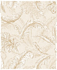 Gilded Feather Wallpaper