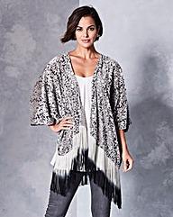 Devore Dip Dye Kimono