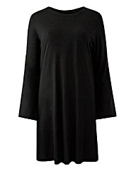 Bell Sleeve Split Back Top