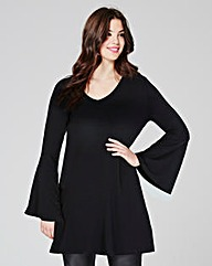 Black Bell Sleeve Tunic