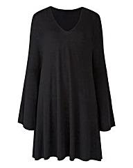 Black Bell Sleeve Tunic