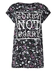 Floral Print Logo Print T-shirt