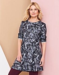 Mono Print Soft Touch Tunic
