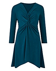 Teal Twist Knot Jersey Tunic