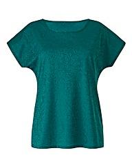 Jade Jersey Jacquard Top