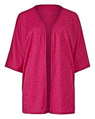 Magenta Jersey Jacquard Kimono