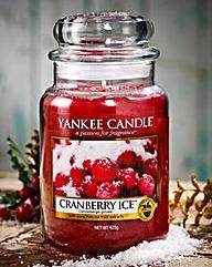 Yankee Cranberry Ice Large Candle Jar