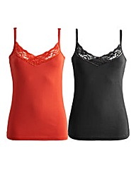 Joanna Hope Pack of Two Jersey Vests
