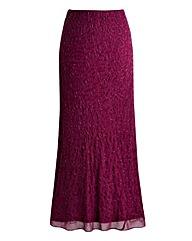 Joanna Hope Bias Cut Beaded Maxi Skirt