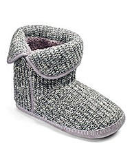 Cable Knit Boot Slippers