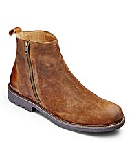 Flintoff By Jacamo Suede Zip Boot