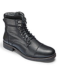 Leather Lace Up Military Boot
