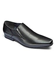 Trustyle Leather Slip On Shoes Ex Wide