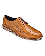 Textured Insert Brogue Shoes