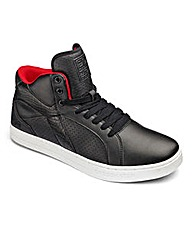 Crosshatch Lace Up Hi Top