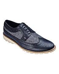 Label J Lace Up Brogues Wide Fit