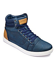 Jacamo Detail Hi-Top Extra Wide Fit