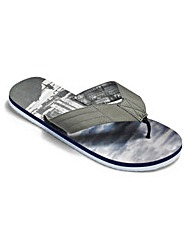 Southbay City Printed Flip Flops
