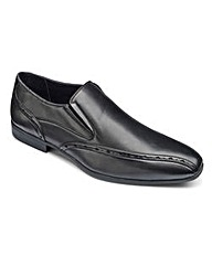 Black Label Plain Slip On Shoes S Fit