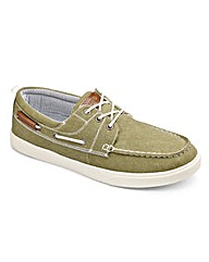 Southbay Lace Up Canvas Boat Shoe Wide