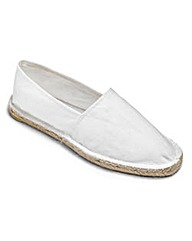 Southbay White Slip-On Espadrilles