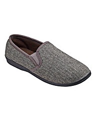 Cushion Walk Tweed Slipper Wide Fit
