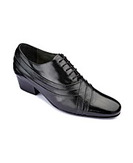 Cuban Heel Lace Up Shoes Wide Fit