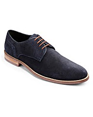 Black Label Suede Derby Shoe Wide Fit