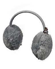 Angel Ribbons Faux Fur Jewelled Ear Muff