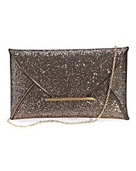 Glitter Envelope Clutch Bag