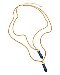 Blue Multi Chain Long Necklace
