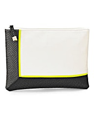 Monochrome Envelope Clutch Bag