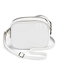 Double Zip Bubble PU Shoulder Bag