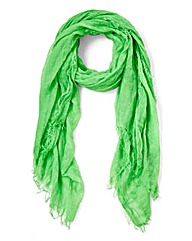 Ligtweight Bright Green Scarf
