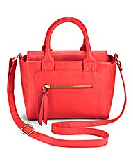 Tomato Red Satchel X Body Bag