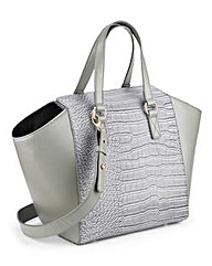 Grey Snake Skin Tote Bag