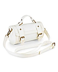 White Barrel Bag