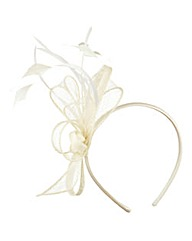 Feather Bow Fascinator Headband