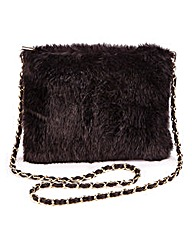 Faux Fur Across Body Bag