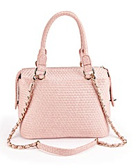 QUILTED STRUCTURED TOTE BAG