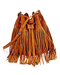 Tan Fringe Duffle Bag