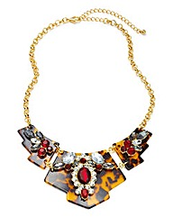 TORTOISE SHELL STATEMENT NECKLACE