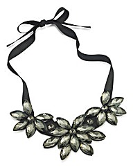 Floral Ribbon Statement Necklace