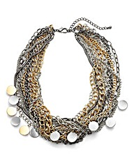 MULTICHAIN COIN STATEMENT NECKLACE