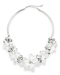 Floral Perspex Statement Necklace